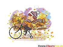 Bicyclette dessin – Automne à télécharger