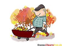 Charrette automne image à télécharger gratuite