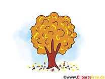 Chute des feuilles clip art gratuit – Automne dessin