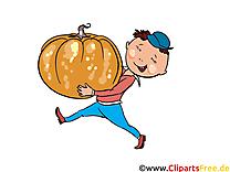 Citrouille automne illustration à télécharger