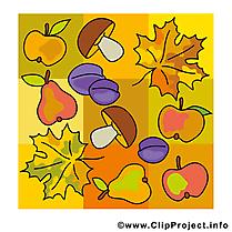 Décoration image – Automne images cliparts