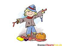 Épouvantail clip art – Automne image gratuite
