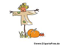 Épouvantail clipart – Automne dessins gratuits