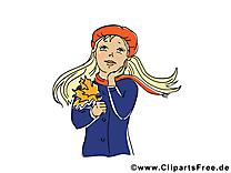 Femme dessin – Automne cliparts à télécharger