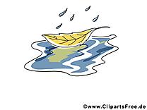 Flaque feuille clip art – Automne image gratuite