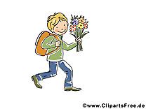 Fleurs image gratuite – Automne clipart