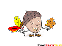 Gland clip arts gratuits – Automne illustrations