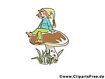 Gnôme champignon image – Automne images cliparts