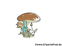 Gnôme champignon images – Automne clip art gratuit