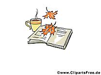 Livre café cliparts gratuis – Automne images
