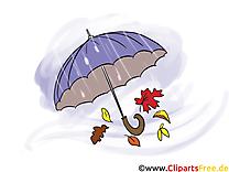Parapluie images gratuites – Automne clipart