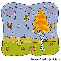 Pluie dessin – Automne clip arts gratuits