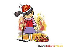 Râteau automne illustration à télécharger gratuite
