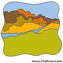 Rivière champ clip art gratuit – Automne dessin