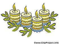 Bougies dessin gratuit – Avent image