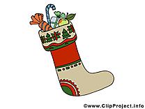 Chaussette clip arts gratuits - Avent illustrations