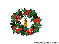 Couronne de l'avent dessin gratuit - Noël image
