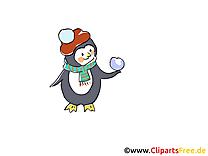 Pingouin avent image à télécharger gratuite