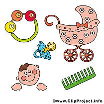 Accessoires illustration gratuite – Bébé clipart