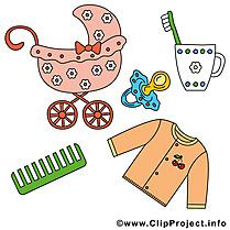Accessoires images gratuites – Bébé clipart