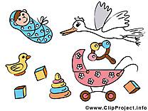 Cygogne dessins gratuits – Bébé clipart