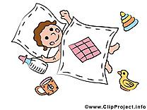 Dormir image gratuite – Bébé cliparts
