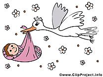 Naissance clip art gratuit – Bébé dessin