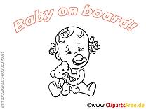 Ours en peluche  à imprimer – Bébé à bord illustrations