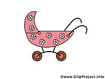 B b clipart images t l charger gratuit - Poussette dessin ...