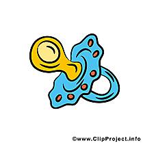 Tétine illustration gratuite – Bébé clipart