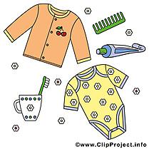 Vêtements clipart gratuit – Bébé images