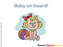 Balle dessin – Bébé à bord clip arts gratuits