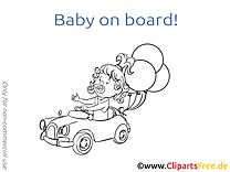 Ballons clip art à imprimer – Bébé à bord images