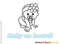 Bébé à bord dessins gratuits clipart