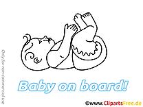 Bébé à bord image à imprimer gratuite