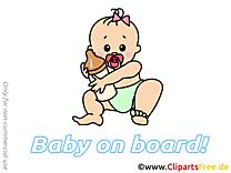 Biberon clipart – Bébé à bord dessins gratuits