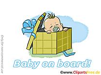 Boîte image à télécharger – Bébé à bord clipart