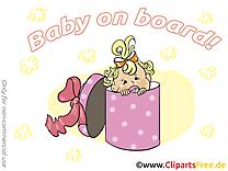 Boîte images – Bébé à bord clip art gratuit
