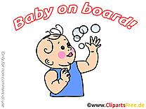Bulles de savon illustration – Bébé à bord images