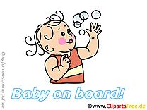 Bulles de savon image gratuite – Bébé à bord illustration