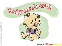 Cadeau bébé à bord image à télécharger gratuite