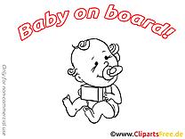 Cadeau dessins gratuits – Bébé à bord clipart