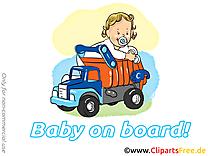Camion images – Bébé à bord dessins gratuits