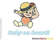 Chapeau image à télécharger – Bébé à bord clipart