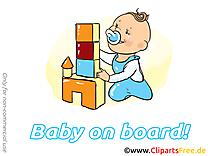 Château en cubes clipart gratuit – Bébé à bord images