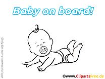 Clipart gratuit bébé à bord images