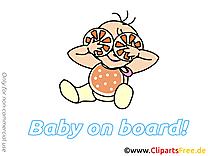 Clipart gratuit oranges – Bébé à bord images
