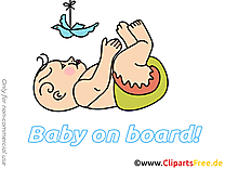 Colombe en papier illustration – Bébé à bord clipart