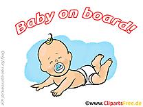 Couches illustration – Bébé à bord images