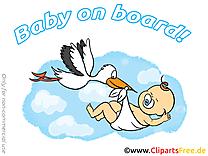 Cygogne dessin à télécharger – Bébé à bord images